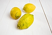 Three organic lemons