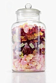 Fruit jelly sweets in storage jar