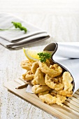Deep-fried squid in paper cone