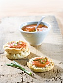 Tomato and garlic spread on scones (Spain)