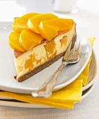 Piece of peach cake