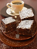 Espresso brownies to serve with coffee