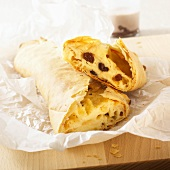 Quark and raisin strudel