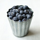 Blueberries in a metal mould