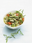 Bean and tomato salad with savory