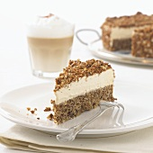 Cappuccino cake to serve with coffee