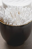 Cotton buds in a bowl