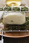 Halloumi (ready for grilling) with herbs