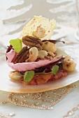 Radicchio, nut and blood orange salad for Christmas