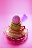 Easter egg nest in espresso cup (decorative idea)