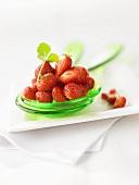 Strawberries on salad servers