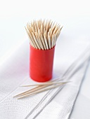 Toothpicks on paper napkins