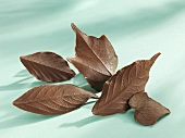 Several chocolate leaves
