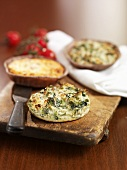 Small vegetable and herb quiches