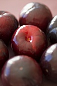 Several red plums (close-up)