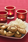 Swedish almond biscuits with dip for Christmas