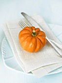 Place-setting with pumpkin