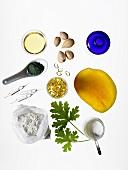Verschiedene Nahrungsmittel für eine schöne Haut