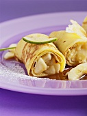 Crêpes with banana filling