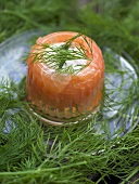 Salmon in aspic with dill