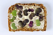 Radish sprouts on buttered wholegrain bread