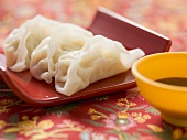 Wonton with soy sauce (Asia)