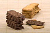 Spekulatius cookies, stacked