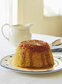 Steamed pudding with caramel sauce
