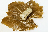 Vine leaves with feta