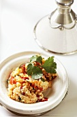 Couscous with tomatoes and corriander