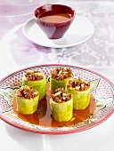 Courgettes stuffed with lamb (North Africa)