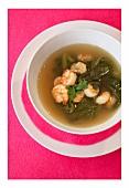Prawn and mangold soup
