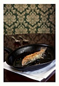Fried trout with a macadamia crust