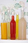 Various cordials (passion fruit, lemon, plum, orange and ginger)