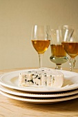 Blue cheese and dessert wine