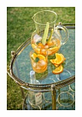 Pimm's No. 1 Cup with orange and cucumber