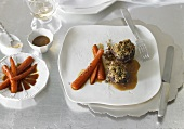 Venison medallions with carrots