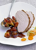 Roast pork with fig sauce