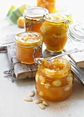 Apricot marmalade with almonds