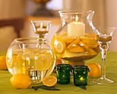 Windlights with lemons