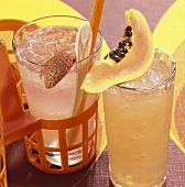 Fruity cocktails: Lychee Collins and Rumours