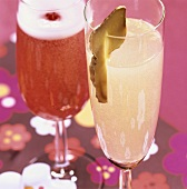 Champagne drinks: Ginger Champagne and Chambrice