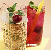 Summer drinks: Vanilla Julep and Raspberry Julep