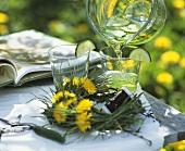 Dandelion wreath and woodruff punch