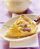 Apple and pear tart with lavender
