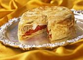Dabba gosht (Spicy mutton pie from India)