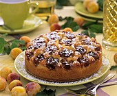A whole mirabelle cake