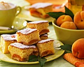 Several pieces of apricot cake