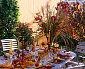Autumn table decoration