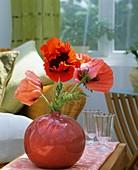 Mohnblumen in einer Vase